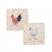 Churchill & Queens China Alex Clark Rooster Set 4 Coasters (20284)