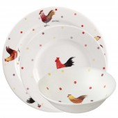 Churchill & Queens China Queens China Alex Clark Rooster 12 Piece Starter Set (20295)