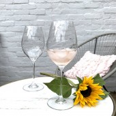 Diamante Set of 2 Goblet Wine Glasses (20912)