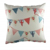 Evans Lichfield Bunting Blue Cushion (21070)