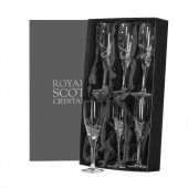 Royal Scot Set of 6 Flute Champagne Glasses (21086)