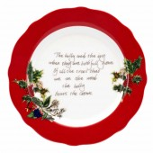 Portmeirion Red Border Tea Plate (21159)