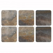 Natural Earth Slate Effect Coasters Set of 6 (21277)