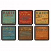 Vintage Lunchtime Coasters Set of 6 (21280)