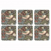 Pimpernel Strawberry Thief Brown Coasters Set of 6 (21283)
