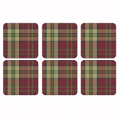 Pimpernel Red Coasters - Set of 6 (21285)