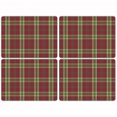 Pimpernel Tartan Red Tablemats - Set of 4 (21297)