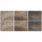 Earth Slate Effect Placemats - Set of 6 (21301)