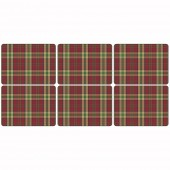 Tartan Red Placemats - Set of 6 (21310)