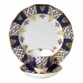 100 Years 1900 Regency Blue Teacup, Saucer and Plate (21313)