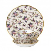 100 Years 1940 English Chintz Teacup, Saucer and Plate (21316)