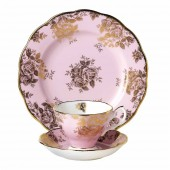 100 Years 1960 Golden Rose Teacup, Saucer and Plate (21318)
