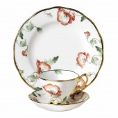 100 Years 1970 Poppy Teacup, Saucer and Plate (21319)