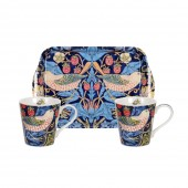 Pimpernel Blue Mugs and Tray Set (21337)