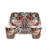 Pimpernel Brown Mugs and Tray Set (21338)