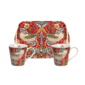 Pimpernel Red Mugs and Tray Set (21339)