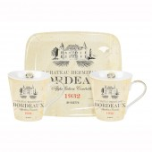 Pimpernel Vin De France Mugs and Tray Set (21341)