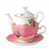 Cheeky Pink Vintage Tea For One (21358)