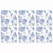 Botanic Blue Coasters Set of 6 (21413)