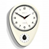 Newgate Clocks Discovery Kitchen Timer Clock - Linen White (21741)
