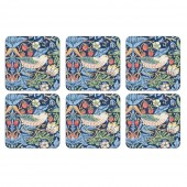 William Morris Strawberry Thief Blue Coasters Set of 6 (21755)