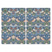 Pimpernel Strawberry Thief Blue Tablemats - Set of 4 (21756)