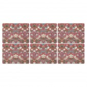 Pimpernel Strawberry Thief Red Placemats - Set of 6 (21763)