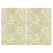 Pimpernel Marigold Green Tablemats - Set of 4 (21771)