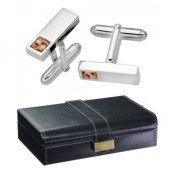 Clogau Gold Silver and 9ct Rose Gold Tree of Life Cufflinks and Box (21777)