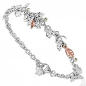 Awelon Silver and 9ct Rose Gold Bracelet (21781)
