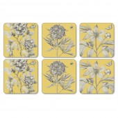 Pimpernel Yellow Coasters - Set of 6 (21813)