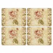 Pimpernel Antique Rose Linen Tablemats Set of 4 (21826)