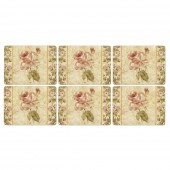 Antique Rose Linen Placemats - Set of 6 (21827)