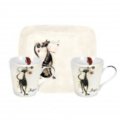 Pimpernel Catitudes Mugs and Tray Set (21972)