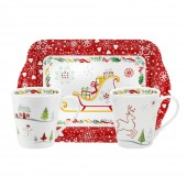 Christmas Wish Mugs and Tray Set (21973)