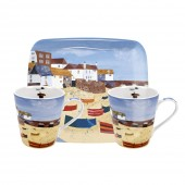 St Ives Windbreak Mugs and Tray Set (21979)