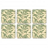 William Morris Willow Bough Green Coasters Set of 6 (22014)