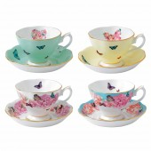 Teacup and Saucer - Set of 4 (22030)