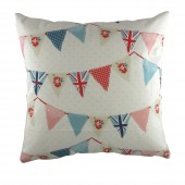 Evans Lichfield Blue Bunting Cushion (22106)