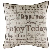 Evans Lichfield Family Rules Cushion (22108)