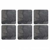 Natural Midnight Slate Effect Coasters Set of 6 (22115)