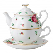 New Country Roses White Vintage Tea For One (22180)