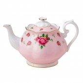 New Country Roses Large Pink Vintage Teapot (22192)