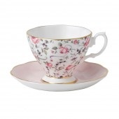 Rose Confetti Vintage Espresso and Saucer (22197)