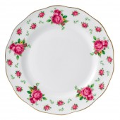 New Country Roses White Vintage Dinner Plate (22206)