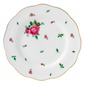 New Country Roses White Vintage Dessert Plate (22207)
