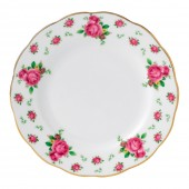 New Country Roses White Vintage Tea Plate (22208)