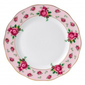 New Country Roses Pink Vintage Dinner Plate (22209)