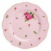 New Country Roses Pink Vintage Dessert Plate (22210)