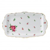 New Country Roses White Vintage Sandwich Tray (22238)
